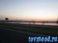 Соленое озеро в городе Ларнака, Кипр