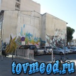 Много графити на стенах. Ларнака. Кипр.
