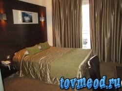 Наш номер в гостинице города Ларнака, Кипр.
